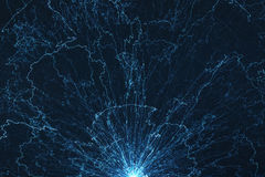 Electromagnetic field. Electromagnetic electric field abstract background Royalty Free Stock Photos