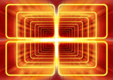 Electromagnetic radiation. Wave mode of electromagnetic radiation, abstract background Stock Photo