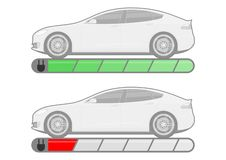 Electromobility概念 皇族释放例证