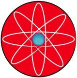 Electron. Molecular atom symbol or button - vector Stock Photos