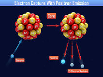 Electron Capture With Positron Emission Stock Photo