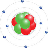 Electron Orbits. Electrons orbits with atomic core Stock Image