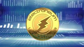 Electroneum, soldi cyber online, alternativa a bitcoin, aumentando nel valore e nella popolarità illustrazione vettoriale