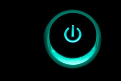 Electroni Power Byttib and Indicator Lights Stock Photos