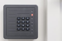 Electronic access control door box. With numeric keypad on white background Royalty Free Stock Photography