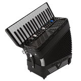 Electronic accordion isolated on white 3D Illustration. Electronic black accordion isolated on white background 3D Illustration Royalty Free Stock Photography