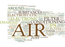 Electronic Air Filters An Overview Word Cloud Concept. Electronic Air Filters An Overview Text Background Word Cloud Concept Royalty Free Stock Photography