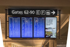 Electronic Airline Arrival Sign Royalty Free Stock Images