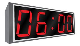 Electronic alarm clock. Stock Images