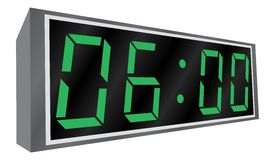 Electronic alarm clock. Stock Photography