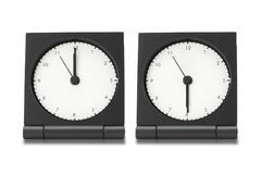 Electronic alarm clocks Stock Photography