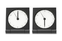 Electronic alarm clocks Stock Photography