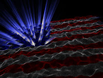 Electronic American Flag Background. An abstract representation of the american flag Stock Photography