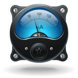 Electronic analog VU signal meter Stock Images