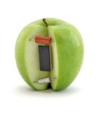 Electronic apple Stock Images