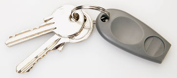 Electronic authentication keys. Two keys and one authentication electronic key 2 Royalty Free Stock Photos