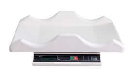 Electronic baby scale. Isolated  over white Stock Photography