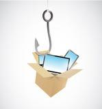 Electronic bait concept illustration Royalty Free Stock Image