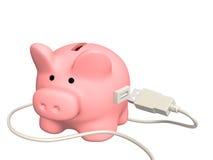Electronic bank account Royalty Free Stock Photos