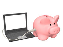 Electronic bank account Stock Photos