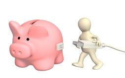 Electronic bank account Royalty Free Stock Image