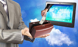 Electronic bank trades Stock Images