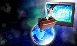 Electronic bank trades Stock Photos
