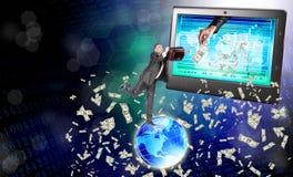 Electronic bank trades Stock Photo