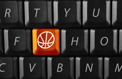 Electronic basketball Royalty Free Stock Image