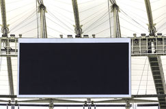 Electronic billboard display at stadium. Clear electronic billboard display at stadium Royalty Free Stock Photography