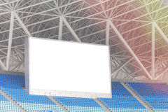 Electronic billboard display at stadium.  for your text Stock Photography