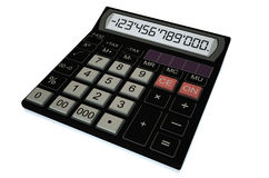 Electronic black calculator Stock Photography