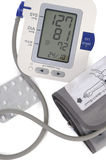 Electronic blood pressure meter and cuff Royalty Free Stock Image