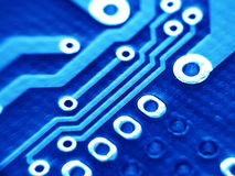 Electronic board. Electronic circuit board royalty free stock photography