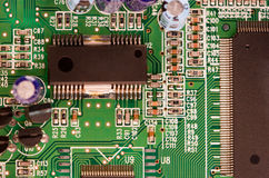 Electronic board. An electronic component Royalty Free Stock Image