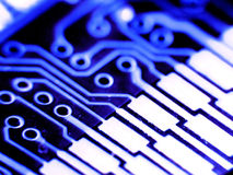 Electronic board. Electronic pc macro board Stock Images