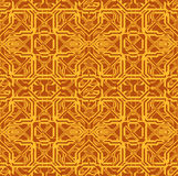Electronic board. Abstraction seamless pattern of yellow electronic circuits on a brown background.Additionally, a vector EPS format Royalty Free Stock Photography