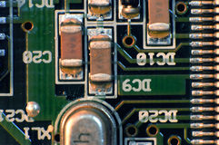 Electronic board. Close up of electronic circuit board stock photos