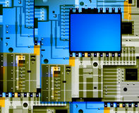Electronic  board Stock Image