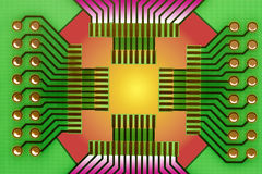 Circuit board illustration Stock Photo