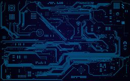 Electronic Board. Abstract electronic board and cpu background in black and white royalty free illustration