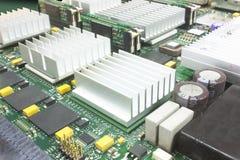 Electronic Board With Big Heatsinks Stock Photography