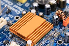 Electronic board close up. Stock Photo