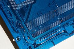 Electronic board. The color is blue. Electronics royalty free stock image