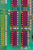 Electronic board components, Motherboard digital chip. Tech science background. Integrated communication processor royalty free stock image