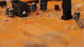 Electronic board stock footage