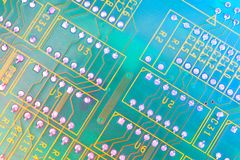 Electronic board design, Motherboard digital chip. Tech science background. Integrated communication processor royalty free stock images