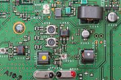 Electronic board with modern components Stock Photos