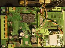 Electronic board. Navigation system. Vehicle tracking technology stock photography