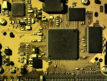 Electronic board, toned image Royalty Free Stock Image
